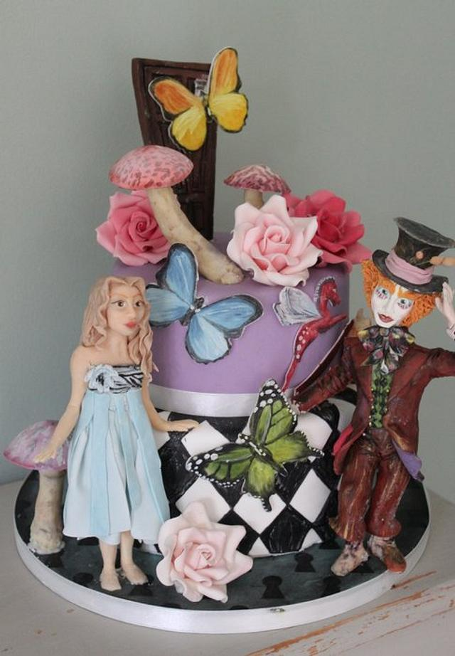 Pleasing Alice In Wonderland Birthday Cake Cake By Sugar Spice Cakesdecor Personalised Birthday Cards Cominlily Jamesorg