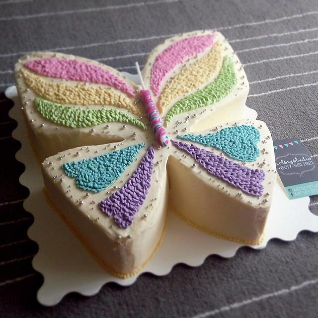 Buttercream Butterfly Cake