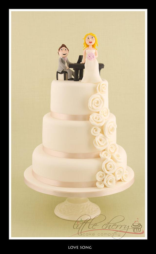 Love Song Wedding Cake