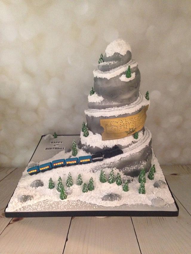 Polar express Train , birthday cake