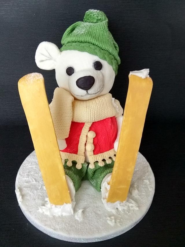 3d bear cake