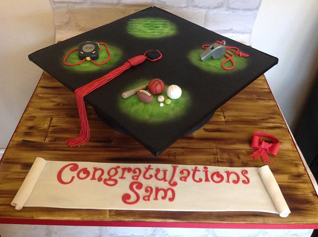 Sports Graduation cake