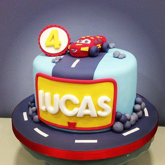 Enjoyable Lightning Mcqueen Birthday Cake Cake By Lepetitsucreme Cakesdecor Personalised Birthday Cards Cominlily Jamesorg