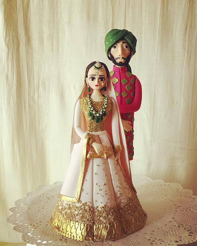 Indian bride and groom topper