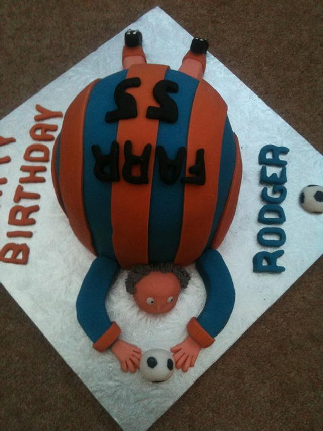Foot ball themed cake