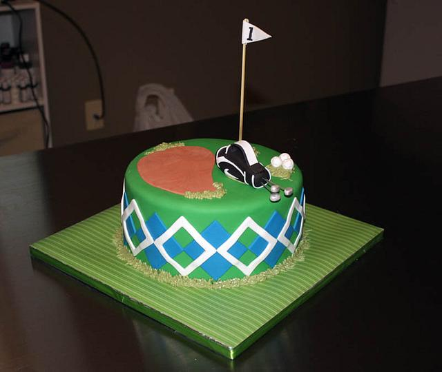 Retirement Golf Cake