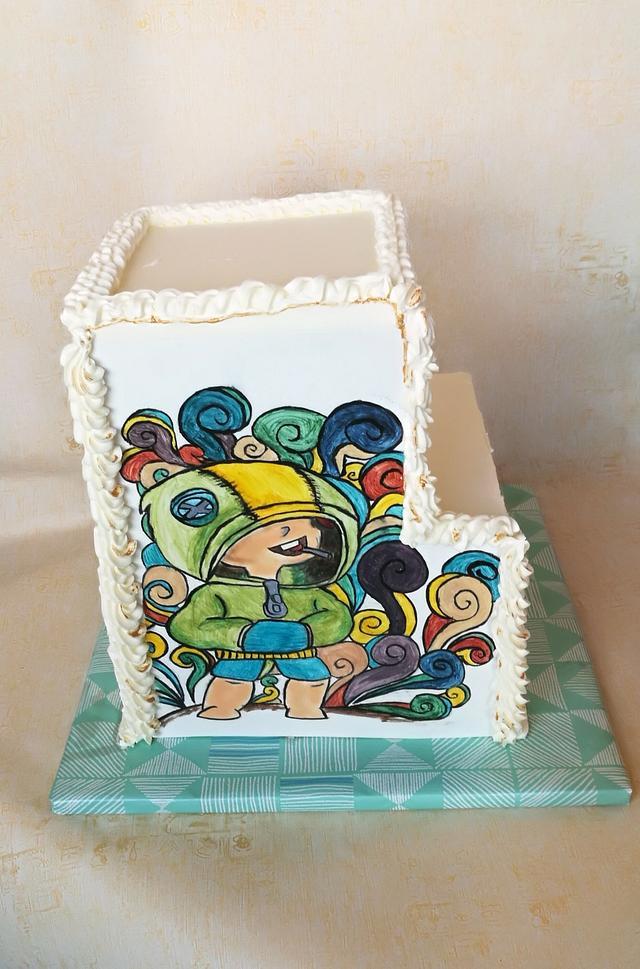 Handpainting cake