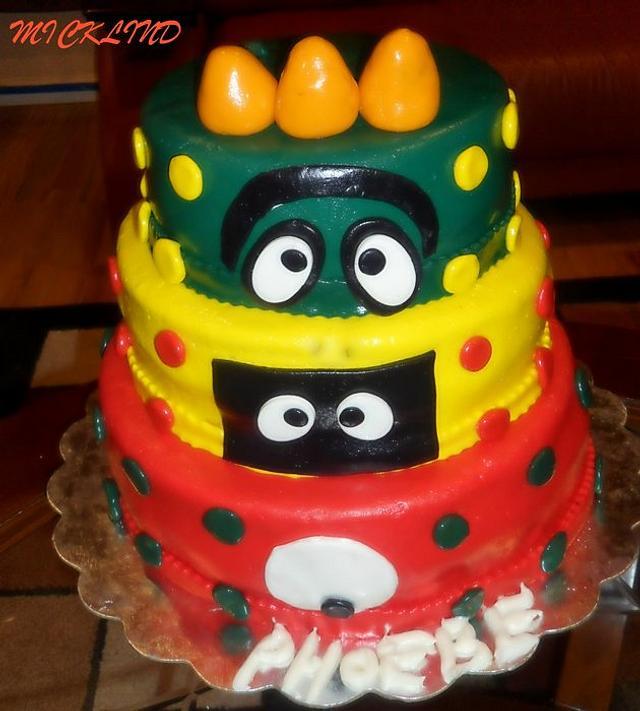 A YO GABA GABA BIRTHDAY CAKE