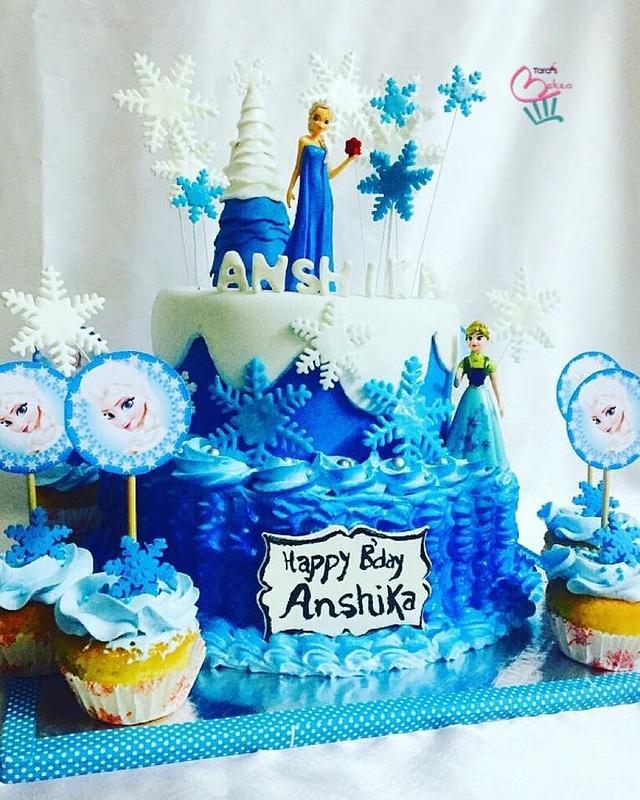 Frozen themed cake...