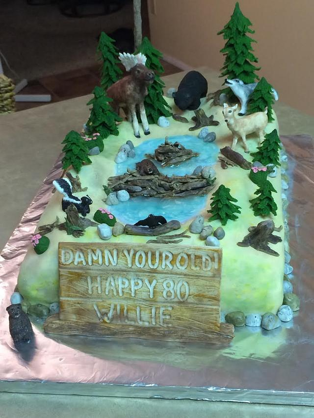 Incredible Alberta Wildlife Birthday Cake Cake By Kerry Cakesdecor Funny Birthday Cards Online Benoljebrpdamsfinfo