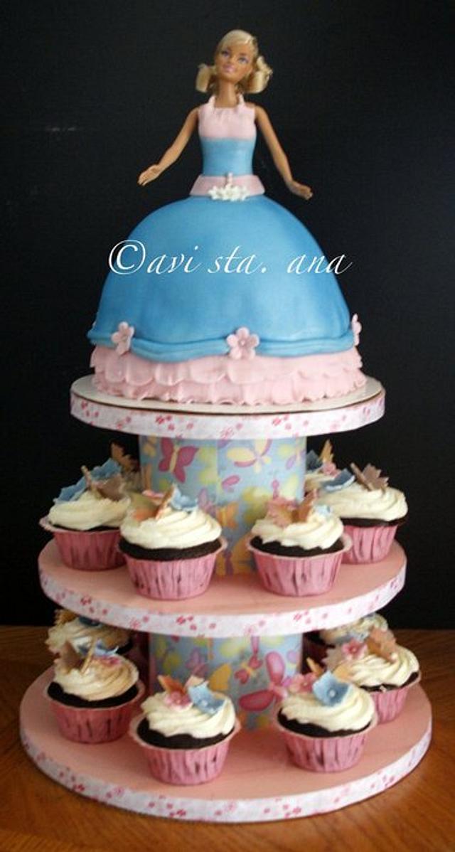 Barbie Doll Cake/Cupcake