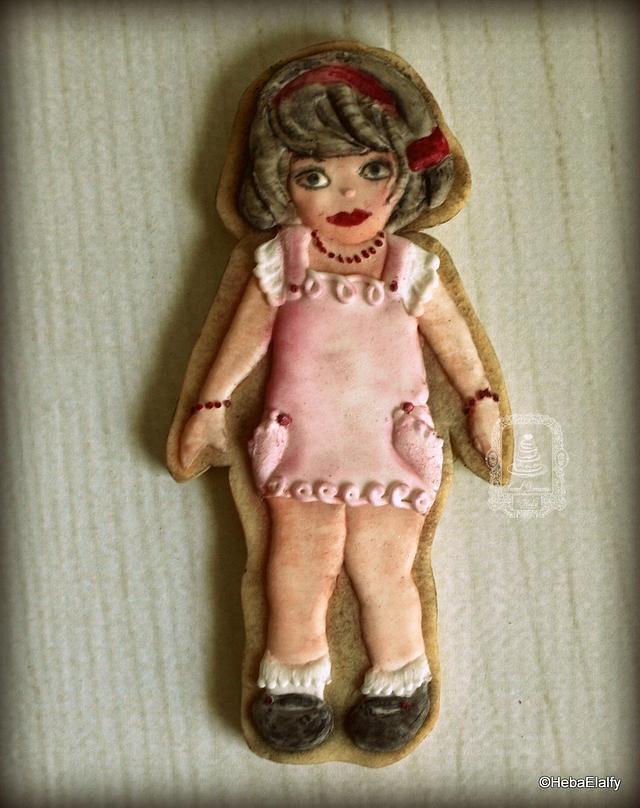 Vintage doll cookie