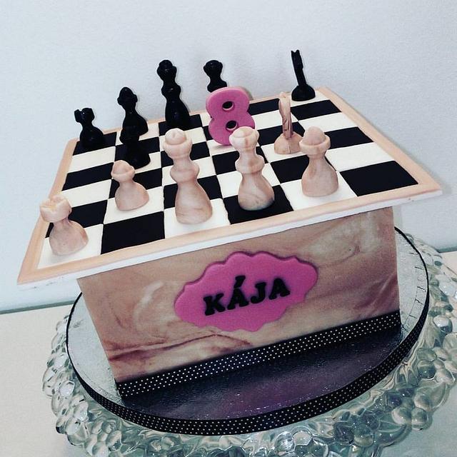 Incredible Sweet Chess Cake By Hana Souckova Cakesdecor Funny Birthday Cards Online Overcheapnameinfo