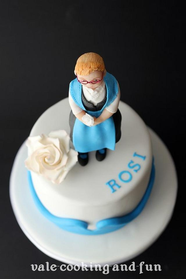 Awesome Birthday Cake With Figurine In German Traditional Dress Cakesdecor Funny Birthday Cards Online Barepcheapnameinfo
