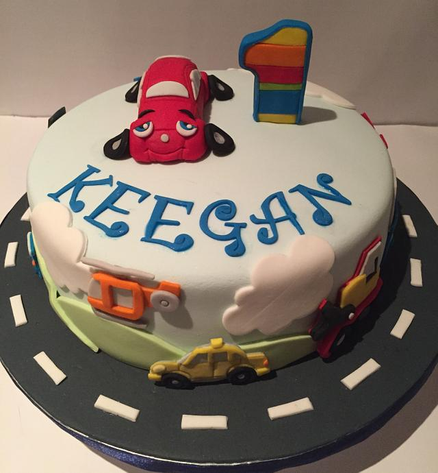1st bday cake for a boy