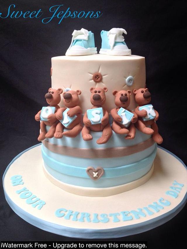 Cute Teddies - Oisin's christening cake