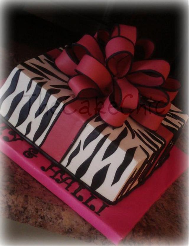 Zebra Present Cake