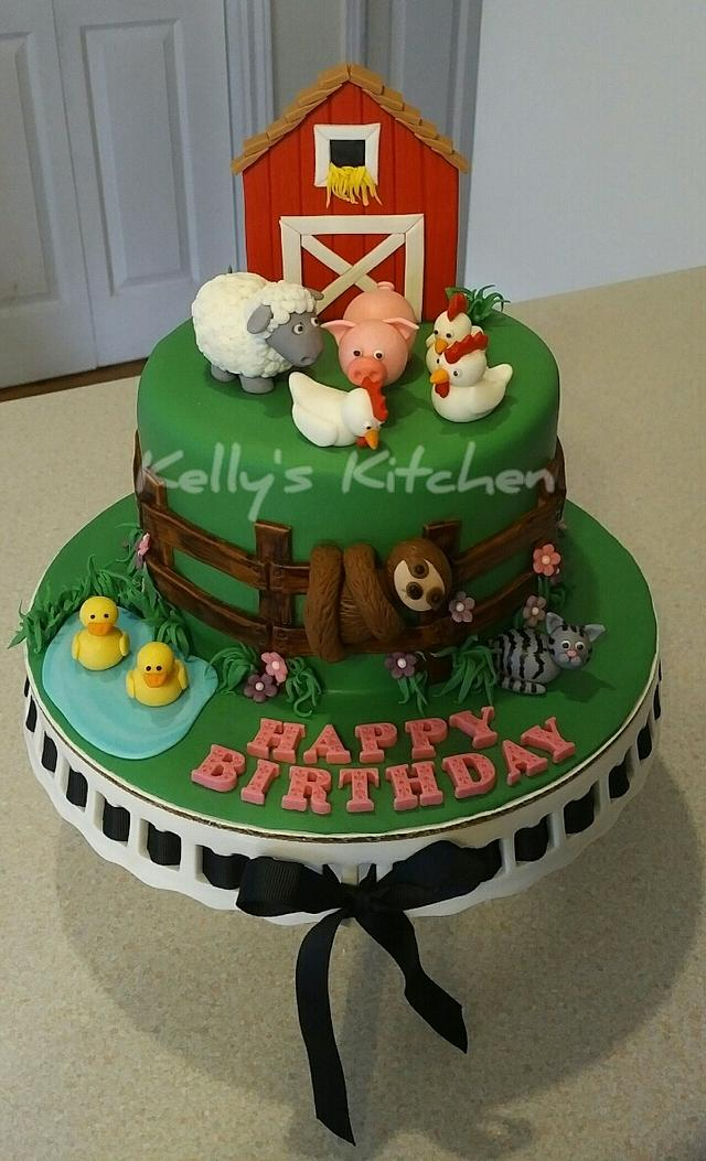Incredible Farm Birthday Cake Cake By Kelly Stevens Cakesdecor Birthday Cards Printable Opercafe Filternl