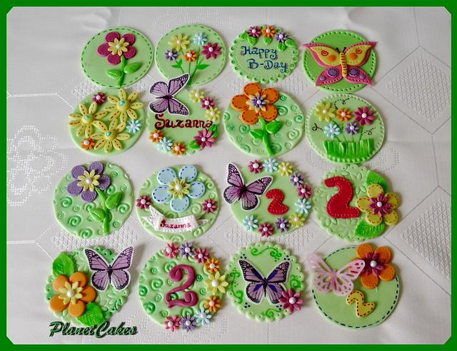 Butterfly Blossoms Gymboree Cupcakes topper