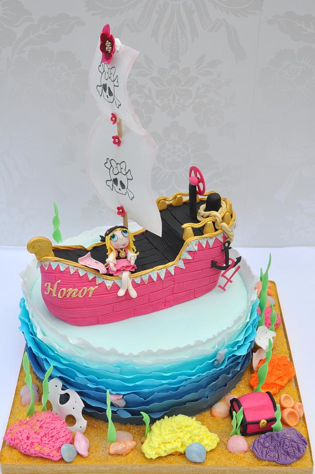 Miraculous Girly Pirate Birthday Cake Cake By Mrs Robinsons Cakes Cakesdecor Funny Birthday Cards Online Alyptdamsfinfo
