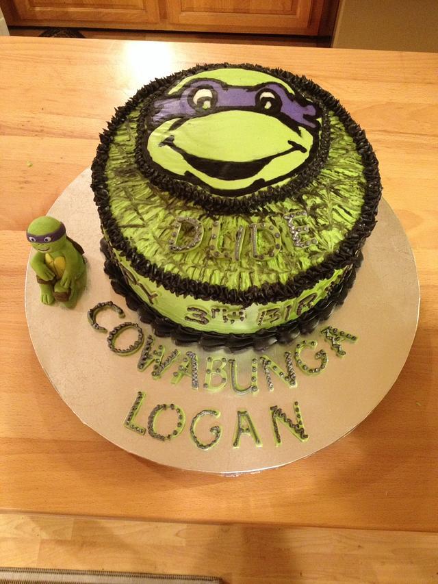 Outstanding Ninja Turtle Birthday Cake For Logan Cake By Lyn Cakesdecor Funny Birthday Cards Online Inifofree Goldxyz