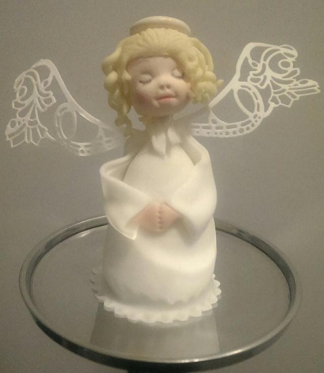 xmas angel cake pop