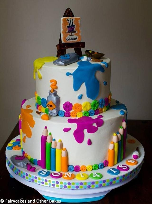 Art Themed Cake