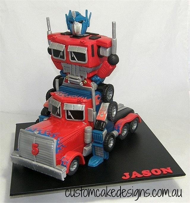 Optimus Prime Transformer Cake