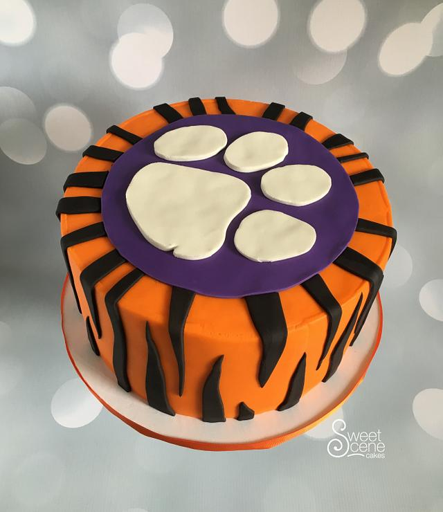 Brilliant Clemson Grooms Cake Cake By Sweet Scene Cakes Cakesdecor Funny Birthday Cards Online Eattedamsfinfo