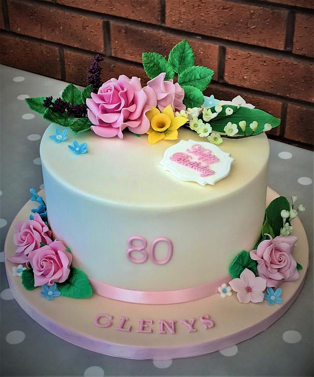 Remarkable 80Th Birthday Cake Cake By Lorraine Yarnold Cakesdecor Funny Birthday Cards Online Alyptdamsfinfo