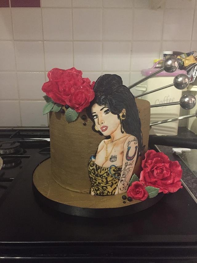Amy Winehouse Cake