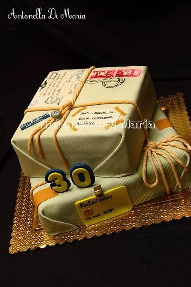 Oldfashioned parcel cake....
