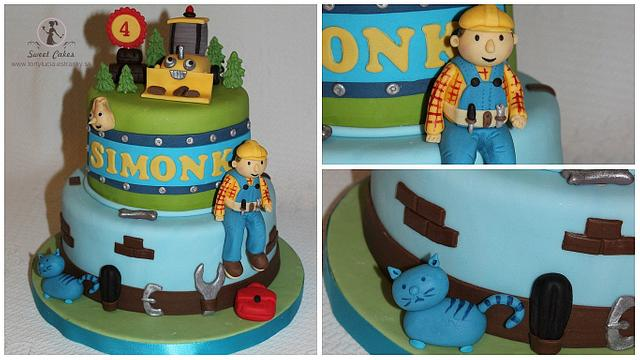 Terrific Bob The Builder Cake By Tortylucia Cakesdecor Funny Birthday Cards Online Elaedamsfinfo