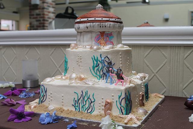 Catalina Island Wedding Cake