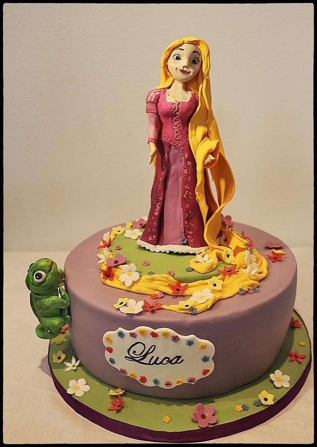 Wondrous Rapunzel Birthday Cake Cake By Lamputigu Cakesdecor Birthday Cards Printable Inklcafe Filternl