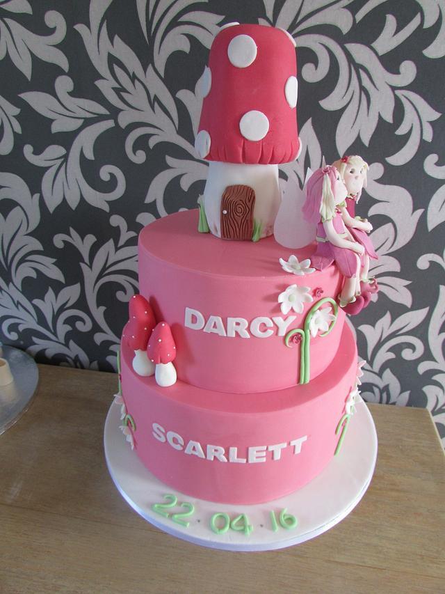 fairy christening cake