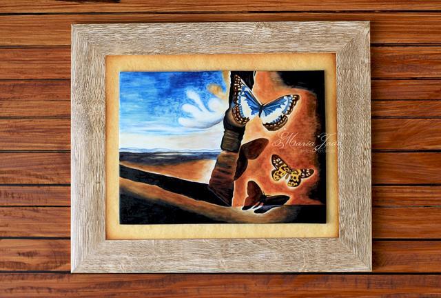"Dali in Sugar - ""Landscape With Butterflies"", 1956"