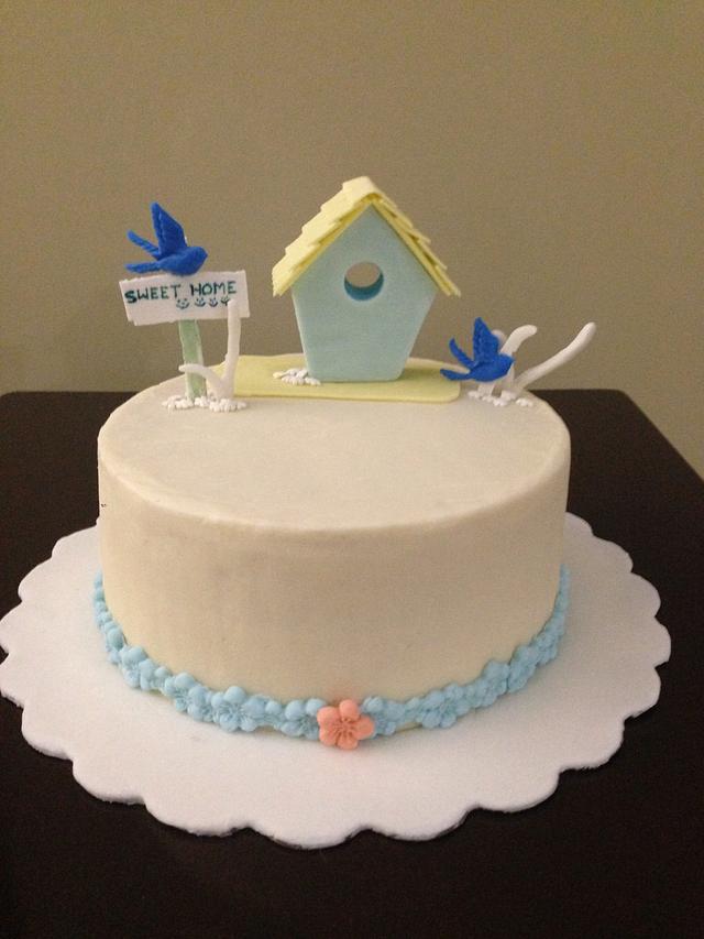 House warming cake - bird house