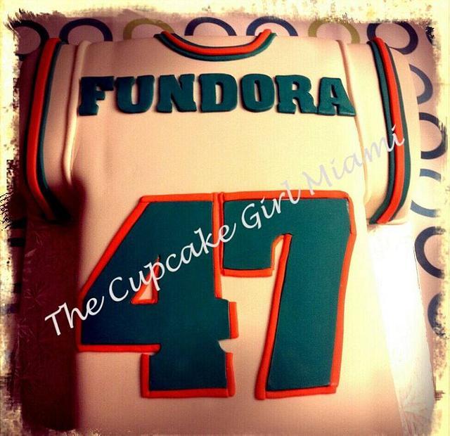 Miami Dolphins Football Jersey cake