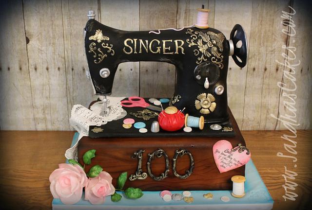 Sally's Sewing Machine Cake