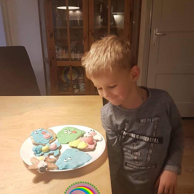 "Sugar art tegen pesten vzw Mathi's hoop - collaboration ""four year old child version"""