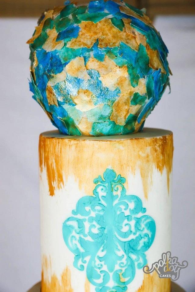 Gold and Turquoise Affair