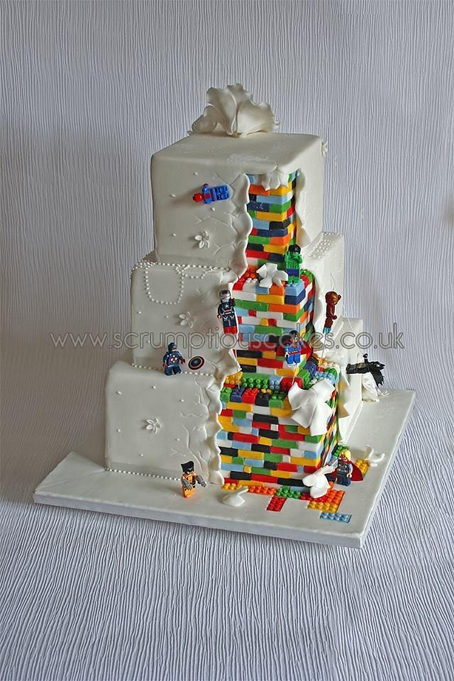 Lego Superhero Wedding Cake