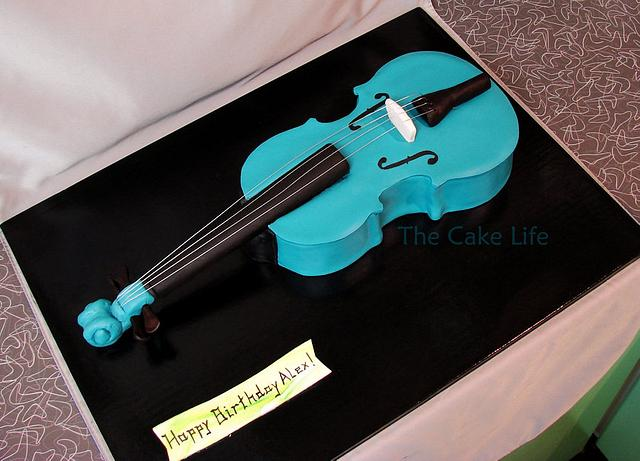 Turquoise Viola Cake