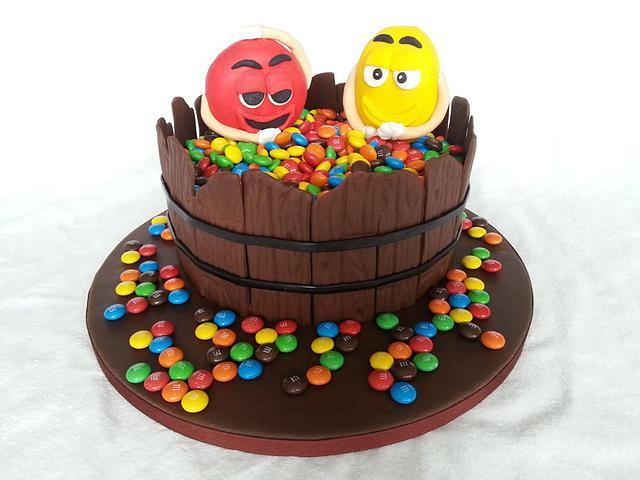 Astounding Mm Birthday Cake Cake By Michelle Cakesdecor Funny Birthday Cards Online Hendilapandamsfinfo