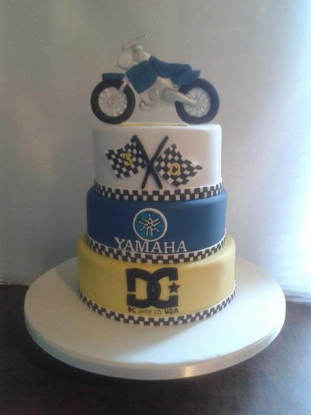 Terrific Yamaha Motocross Cake Cake By Mandy Cakesdecor Birthday Cards Printable Trancafe Filternl