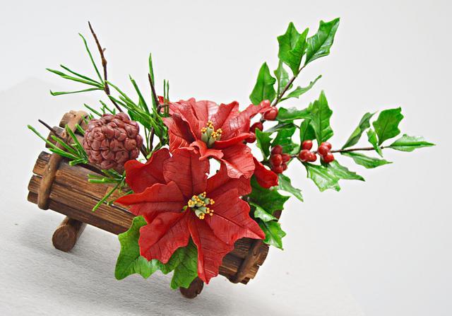 Preparing Christmas- Freeformed Sugar Flowers