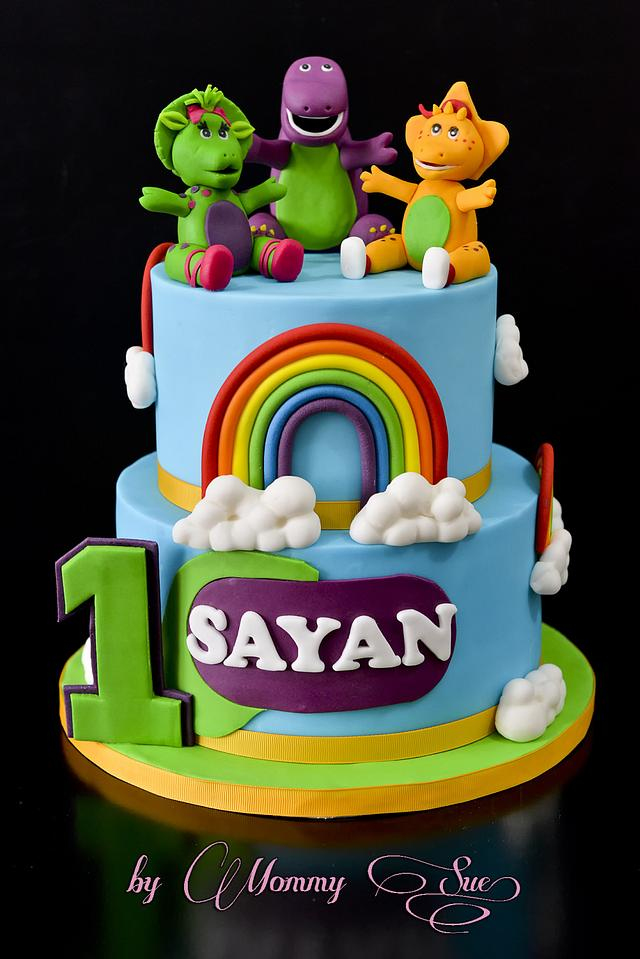 Enjoyable Barney And Friends Cake Cake By Mommy Sue Cakesdecor Personalised Birthday Cards Cominlily Jamesorg