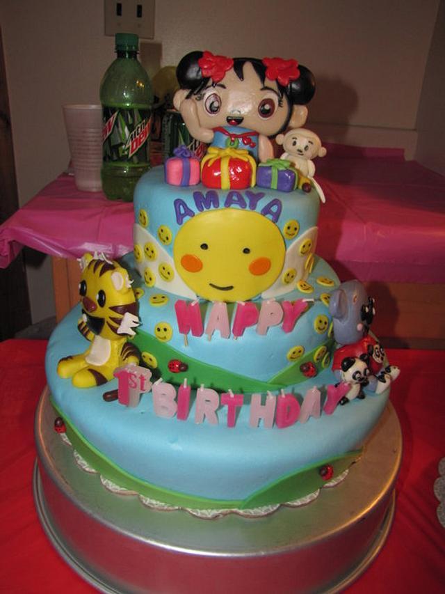 My daughters Kai Lan 1st Birthday cake