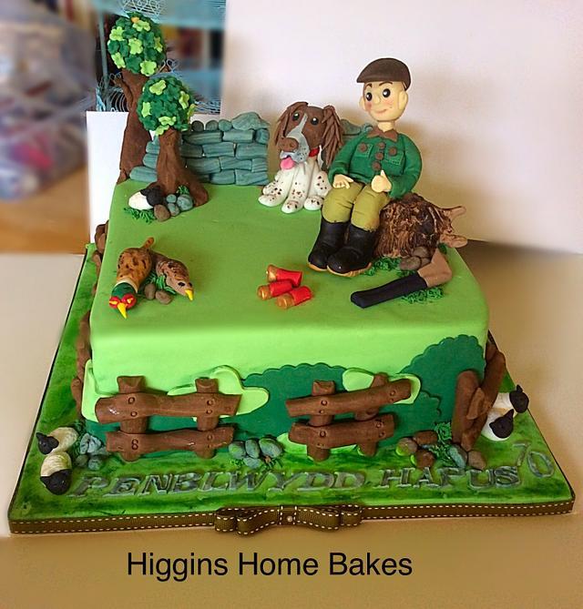 Countryside Shooting Cake